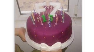 Şəkər xəmiri ilə ad günü tortlarınızı artıq özünüz hazırlayacaqsız🥰👍cox sade ama görünüşü möhtəşəm😋🎂