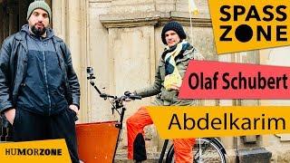 Abdelkarim und Olaf Schubert begucken Dresden mit dem Fahrrad