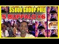 🙀WHOA! 💲5,800 29-Person Group Pull🐃5 Buffalo ❌ 6🔒🔗Lock It Link🍸Cosmo LAS VEGAS✦ BCSlots