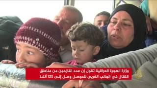 موجة نزوح غير مسبوقة من غربي الموصل