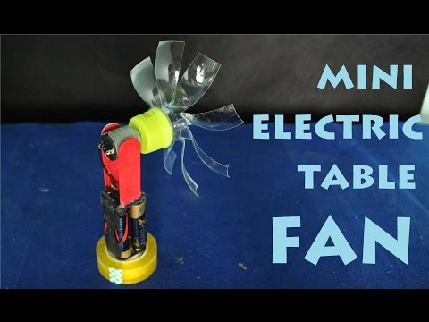 How To Make A Mini Electric Fan | Homemade Toy
