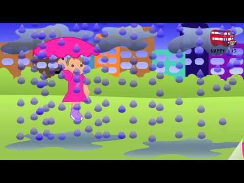Песня детская Девочка и дождь. Детская песенка. Песня для детей. Детская песня и видео.