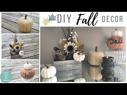 DIY FALL DECOR Collab | Budget friendly $20 decor | VIGNETTE | DIY twine & toilet paper Pumpkin