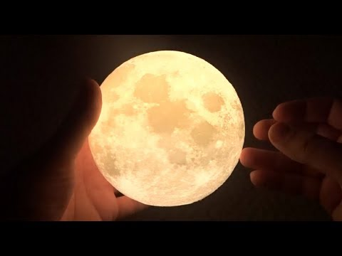 3D Printed MOON LAMP - Rechargeable LED Nightlight Unboxing