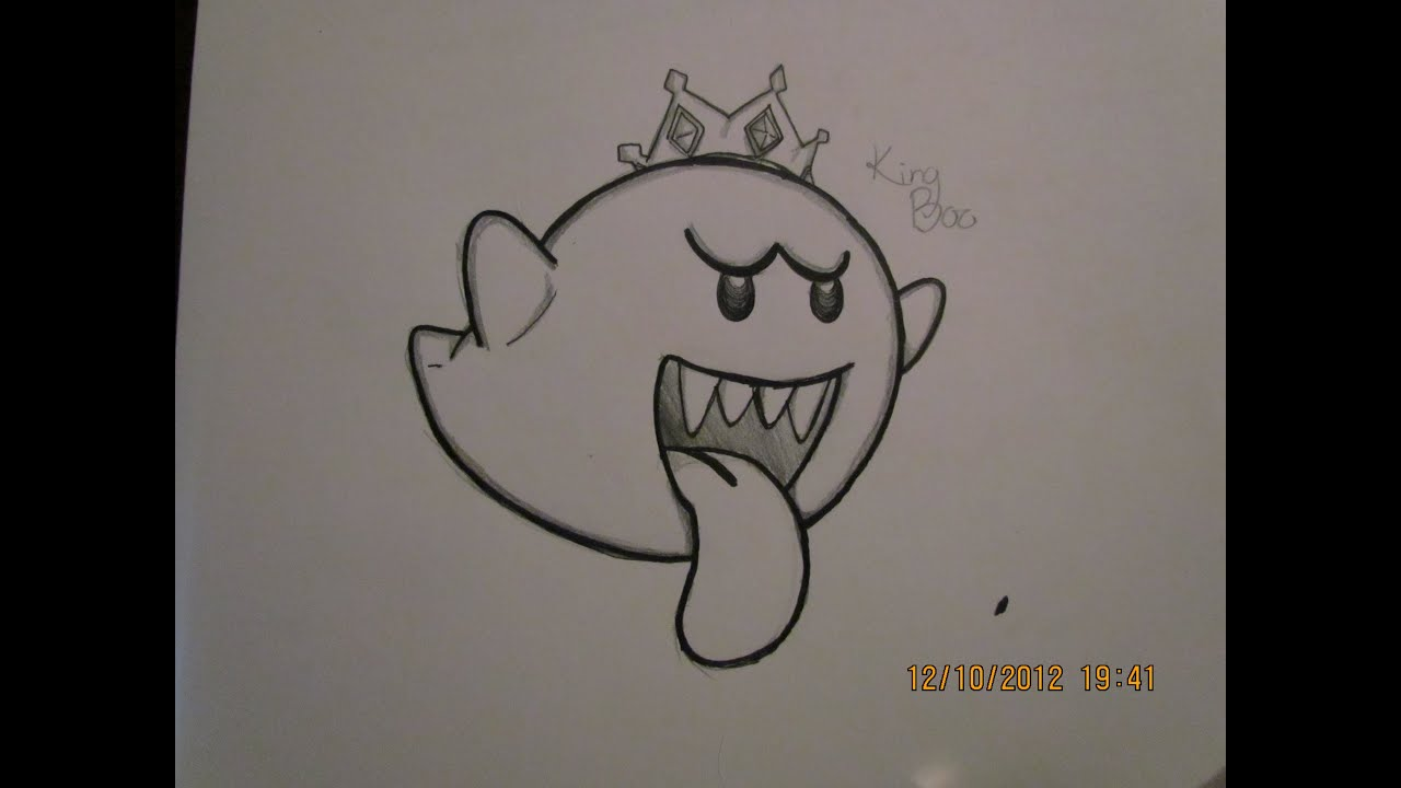drawing request 2 king boo youtube