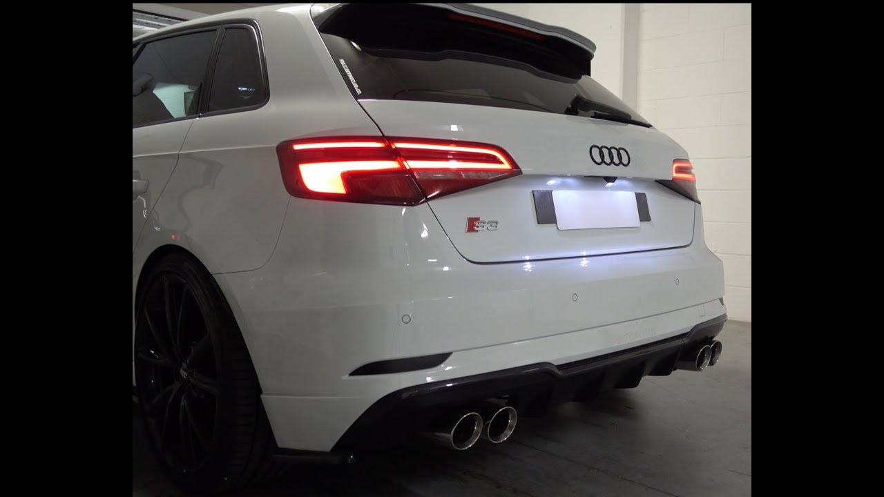 audi s3 armytrix exhaust s3 8v 2017 facelift youtube. Black Bedroom Furniture Sets. Home Design Ideas