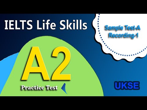 IELTS Life Skills Listening A2 (2a) Sample Test A Recording 1