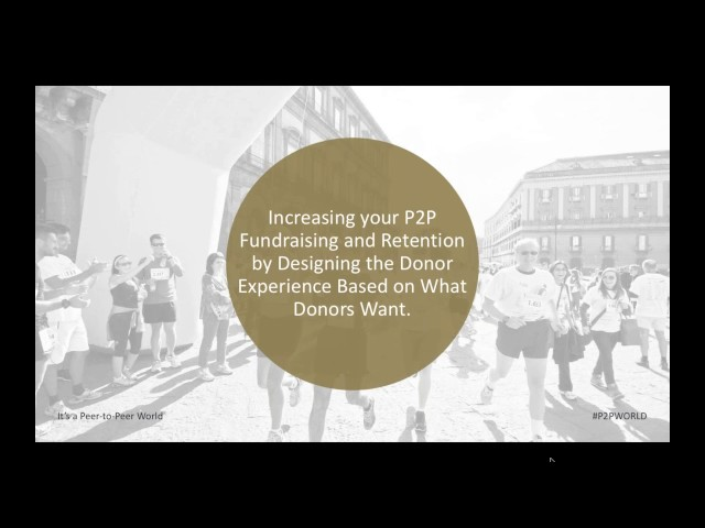 Increase Your P2P Fundraising and Retention by Designing a Donor Experience