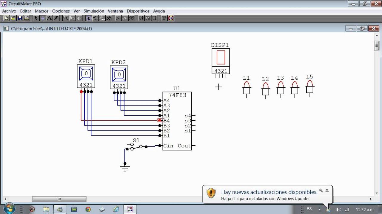 Circuit Maker Tutorial sumador binario - YouTube