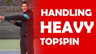 Handling Heavy Topspin | HANDLE DIFFERENT SPINS