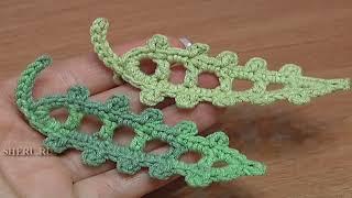 Leaves Crochet Pattern Free Урок 23 Удлиненный листик связанный крючком