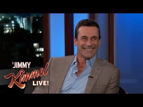 Jimmy Kimmel & Jon Hamm Eat Frozen Custard Together