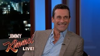 Jimmy Kimmel & Jon Hamm Eat Frozen Custard Together