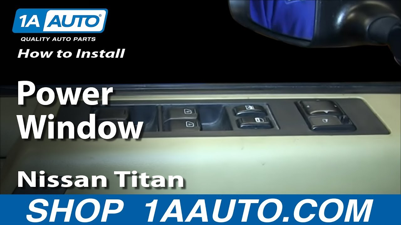 How To Install Replace Drivers Power Window Master Switch Nissan 07 Titan Fuse Box