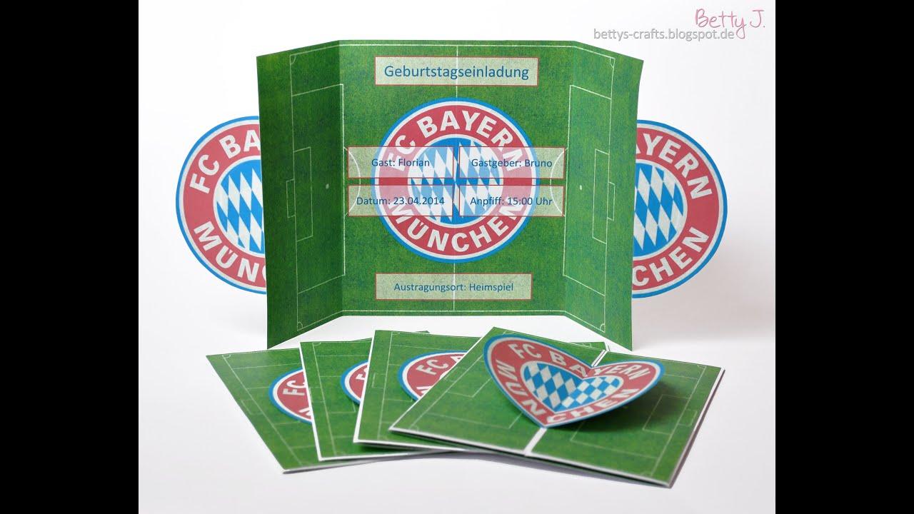 Bayern Munchen Geburtstagseinladung