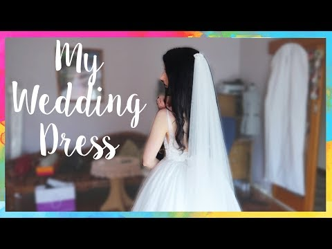 Trying On My Wedding Dress