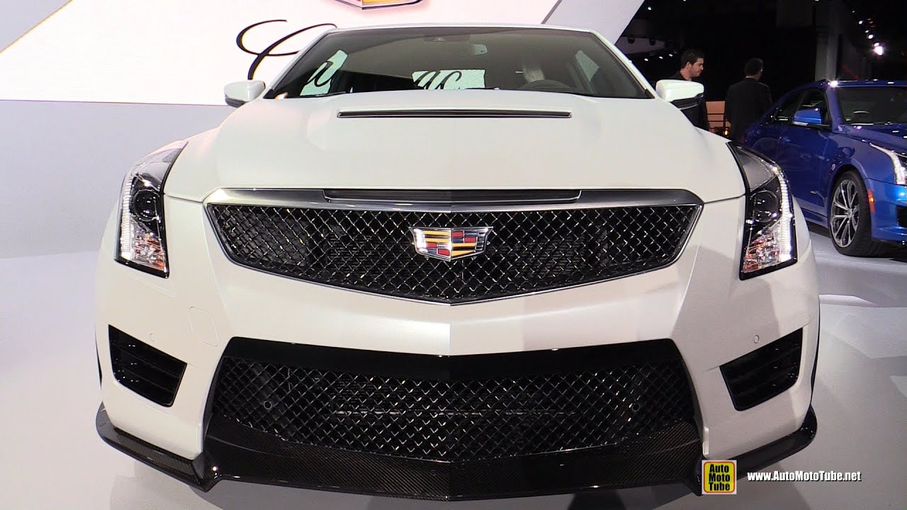 2016 Cadillac Ats V Coupe Exterior And Interior Walkaround Debut