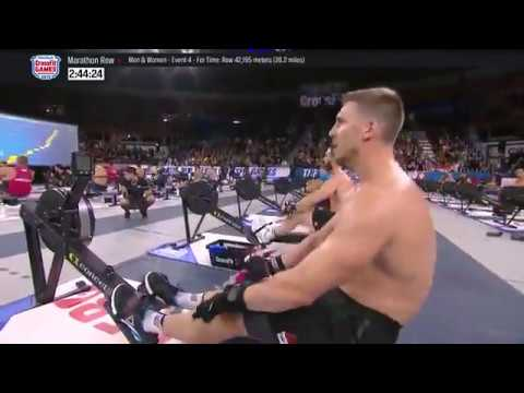 The 2018 Crossfit Games Individual Marathon Row Men S
