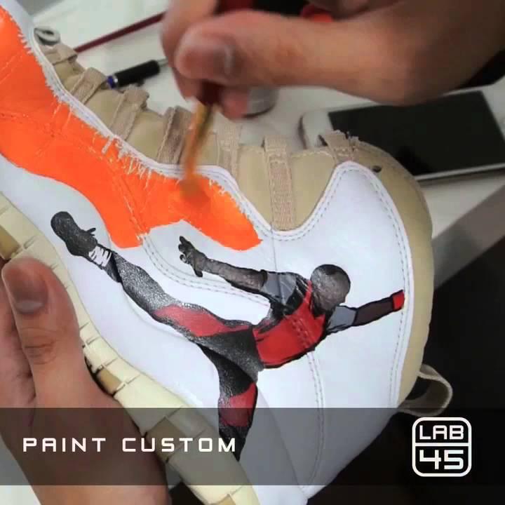 Jordan 10 - LINEN - Retro 2005 - Photo Reel Custom - YouTube 46f02397d