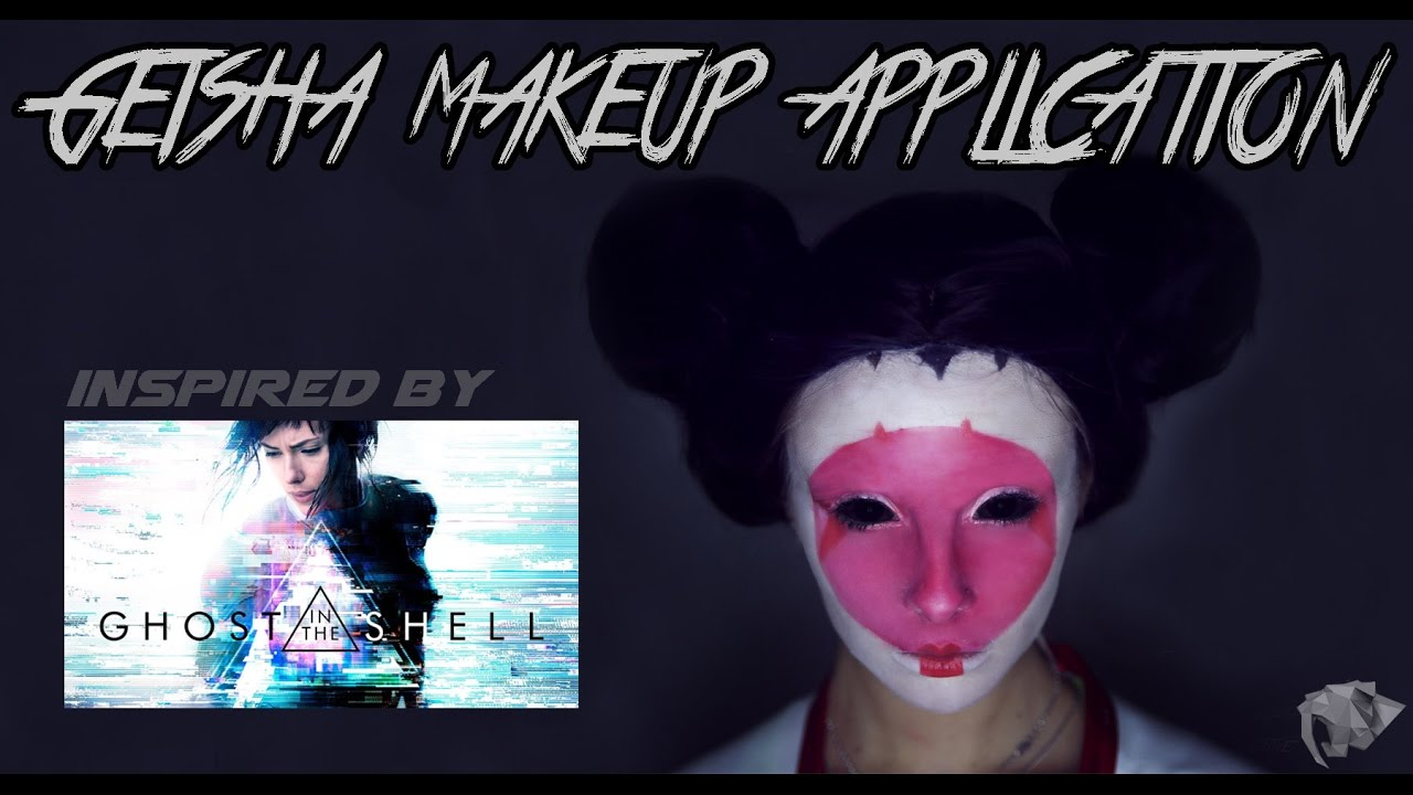 Ghost In The Shell Geisha Makeup Application Youtube