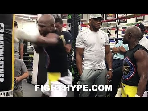 Download Youtube: MAYWEATHER SHOWS ANTHONY JOSHUA NASTIEST JAB IN BOXING; DROPS UNRELEASED FOOTAGE, STILL WORKING