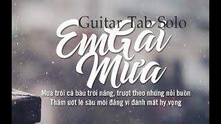 Em Gái Mưa - Guitar Tab - Guitar Solo (Fingerstyle)