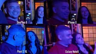 Camera Test Note9 vs iPhone X vs Pixel 2 XL vs OnePlus 6