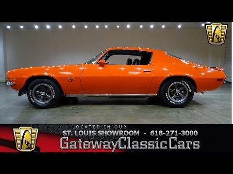 1970 Chevrolet Camaro Stock #7284 Gateway Classic Cars St. Louis Showroom