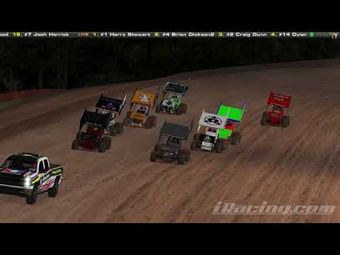 iRacing com Simulator Lernerville Speedway 360 Winged Sprint Heat 12 28 19