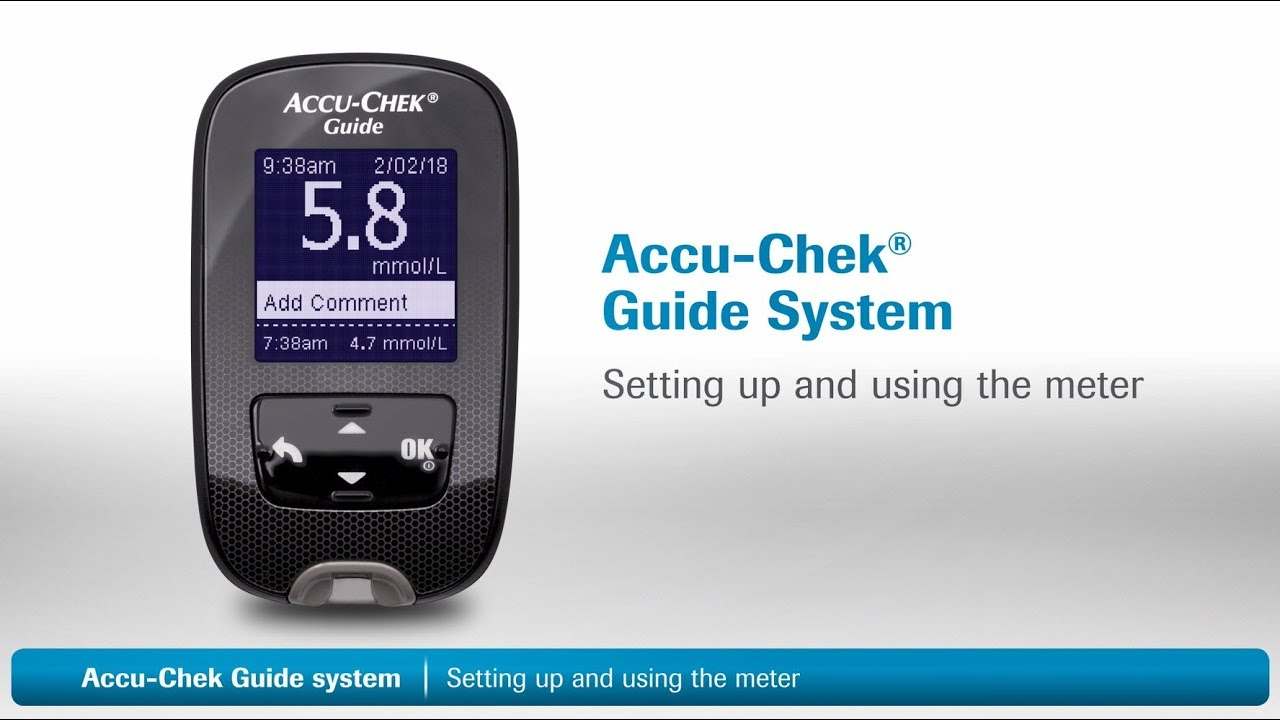 accu chek guide setting up and using the meter youtube