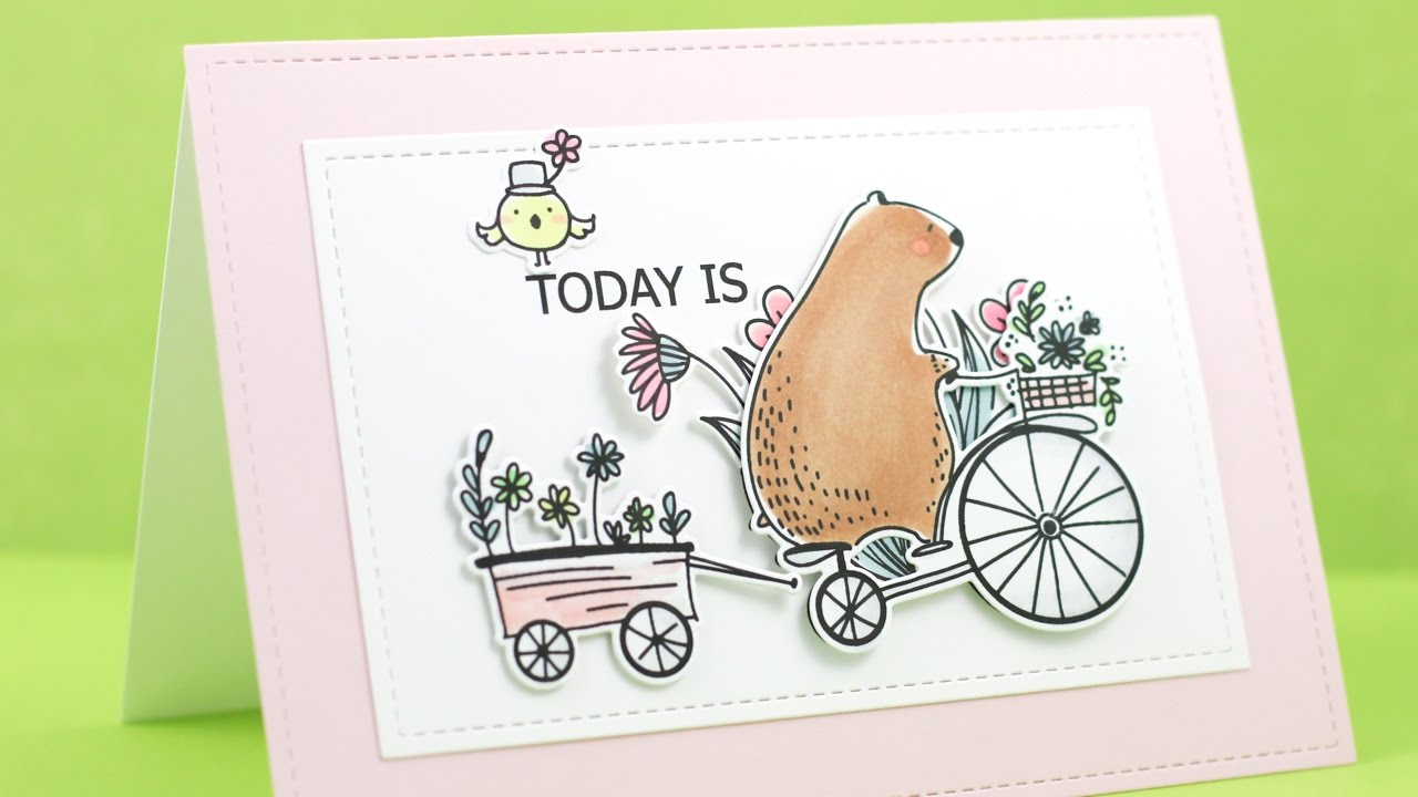 Waffle Flower Clear Stamp Set Happy Day