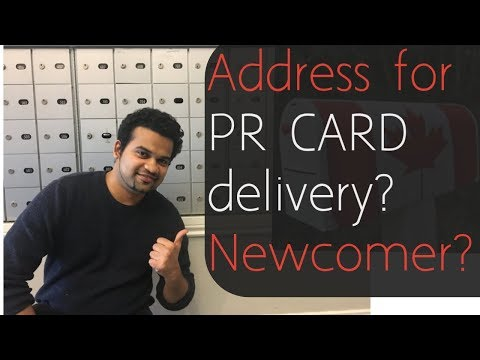 No Canadian Mailing Address For PR Card Delivery??||Landing||