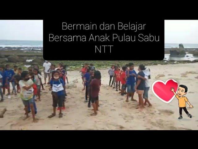 Bermain dan Belajar Bersama Anak-Anak Pulau Sabu NTT #short