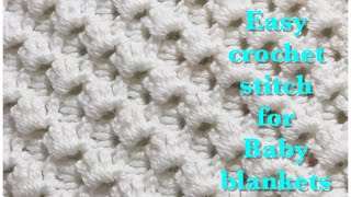 Crystal Waves crochet stitch for fast and easy baby blankets #89