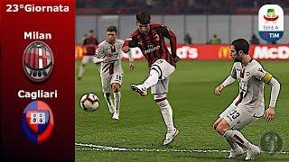 """Milan Vs Cagliari • 23°Giornata """"Piatek fa sempre male"""" • PES 2019 Patch [Giù]"""
