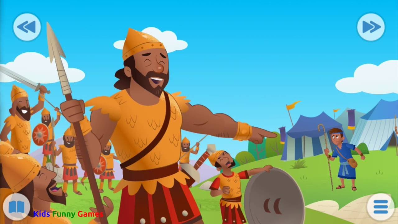 bible for kids david and goliath funny games youtube