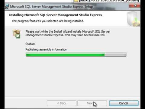Developing with sql server 2005 express.