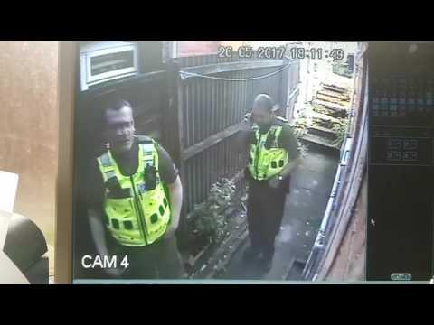 UK British West Midlands Police Notice CCTV - Then BREAK It!! Crooked Cops 2017 Dumb Police Fail
