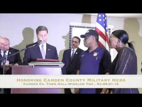 Honoring U.S. Army Hero & Community Hero In Winslow Township NJ 6.1.16