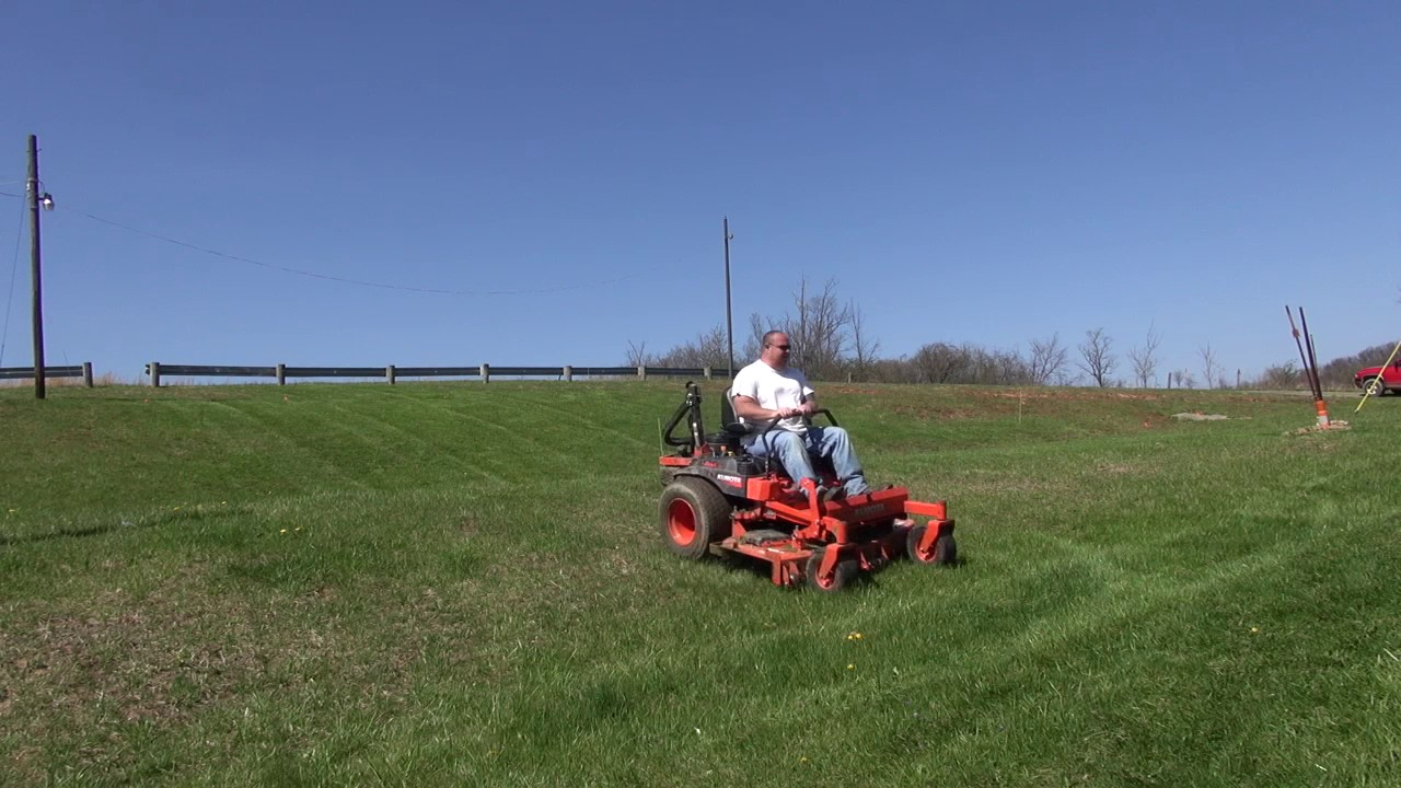 KUBOTA Z726X ON SCARY HILLS - lawn care - mowing business - vlog