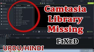 How To Recover Camtasia Missing Library Assets Project