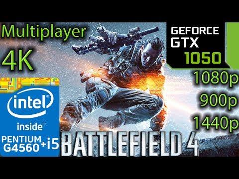 Battlefield 4 Multiplayer - GTX 1050 2GB - G4560 and i5 7400 - 1080p - 900p - 1440p - 4K - Shanghai