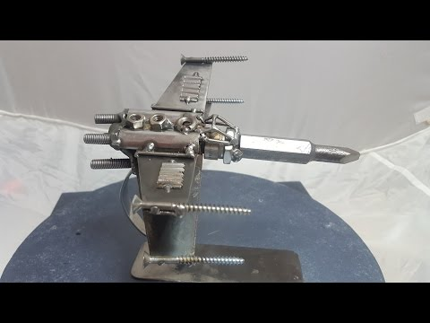 How to build a simple Starwars inspired X-wing from recycled scrap metal