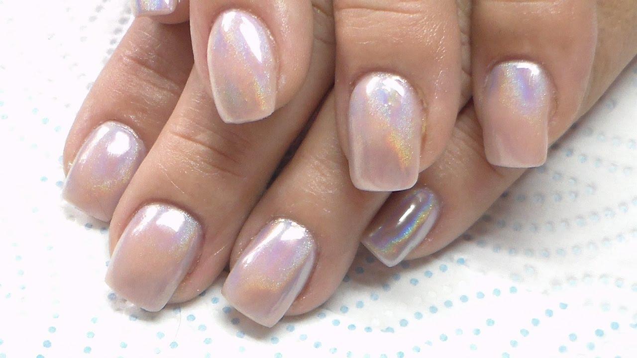 acrylic nails unicorn holographic