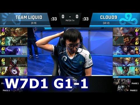 Liquid (w/ DoubleLift) vs Cloud 9 Game 1   S7 NA LCS Spring 2017 Week 7 Day 1   TL vs C9 G1 W7D1