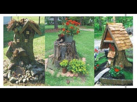 50+ Amazing Tree Stump Ideas For Garden - Landscaping Ideas Around A Tree Stump I Landscaping Ideas