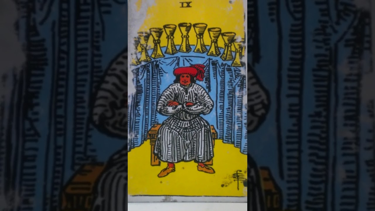 The Nine of Cups as Feelings in a Love Reading
