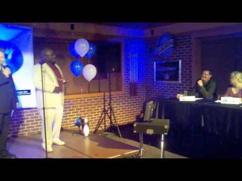 Big Brown at the Freeway Lanes Freeway Idol karaoke contest in Solon Ohio 2011