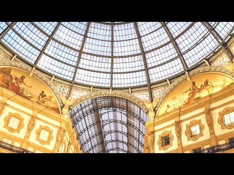 MILAN: a look at wonderful Vittorio Emanuele Gallery, Italy