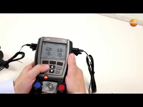 Digital manifold testo 570: Save serial measurement (7/8) | Be sure. Testo